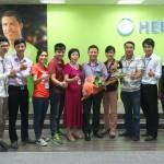 Anh Quỳnh ở Gia Lâm rất vui khi sử dụng dịch vụ giúp việc trông trẻ HCH