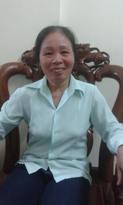 Cô Lê Thị Oanh sinh năm 1964, quê Thái Bình đang chờ việc