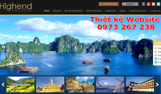 mẫu Website Du Lịch1