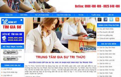 Thiết kế website gia sư dịch vụ làm web chuẩn seo chuẩn di động