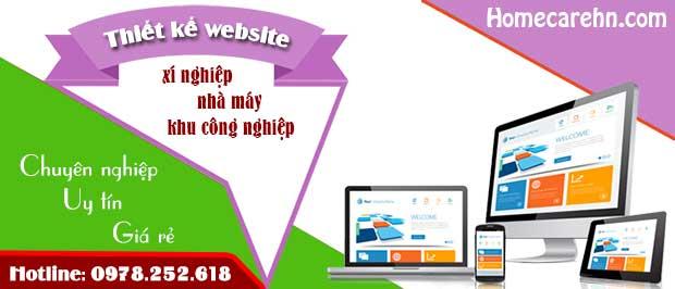 Dịch vụ thiết kế website xí nghiệp nhà máy khu công nghiệp