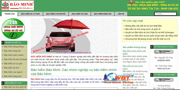 Lợi ích thiết kế website bảo hiểm