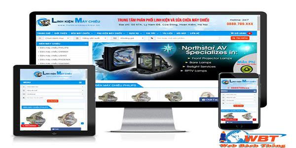 Thiết kế website bán máy chiếu
