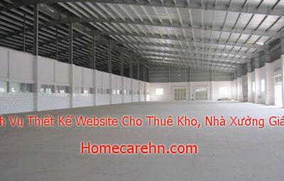 dịch vụ thiết kế website cho thuê kho,nhà xưởng