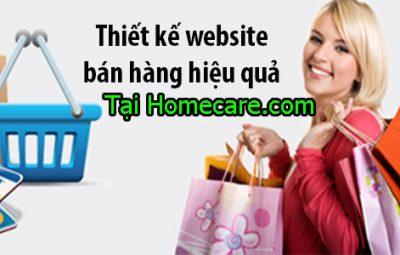 thiết kế website bán hàng uy tín chuyên nghiệp