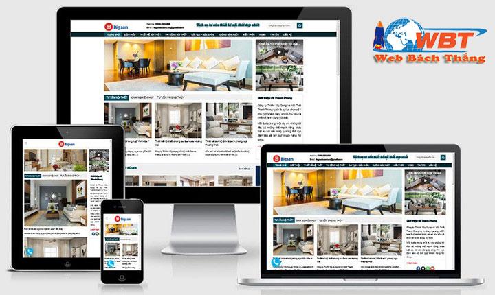 thiết kế website nội thất chuyên nghiệp đẳng cấp