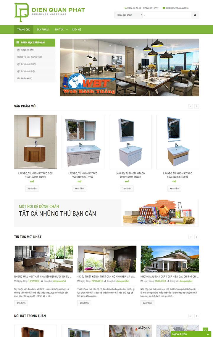 thiết kế website nội thất chuyên nghiệp