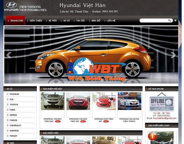 thiết kế website bán ôtô chuyên nghiệp đẳng cấp