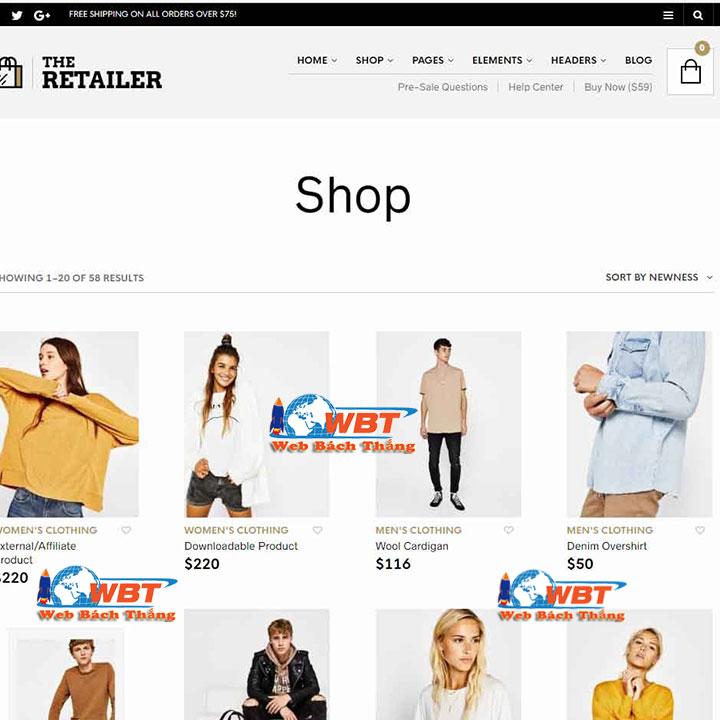 thiết kế website thời trang – may mặc đẹp uy tín đẳng cấp
