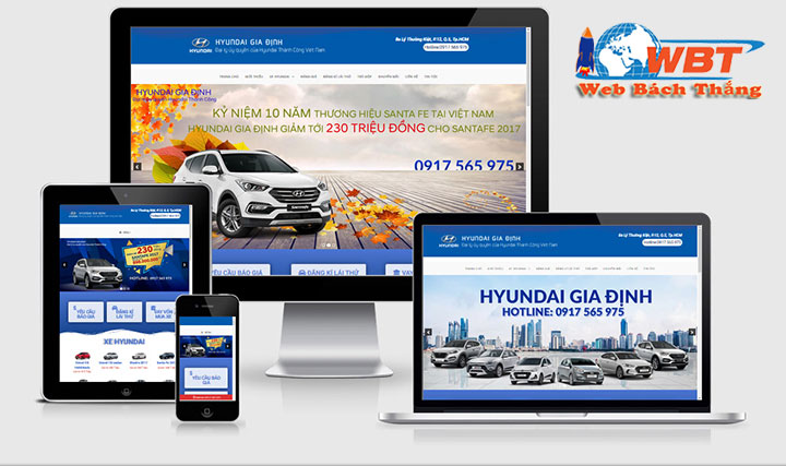 thiết kế website bán ôtô chuyên nghiệp chuẩn di động