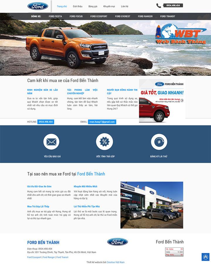 thiết kế website bán ô tô chuyên nghiệp