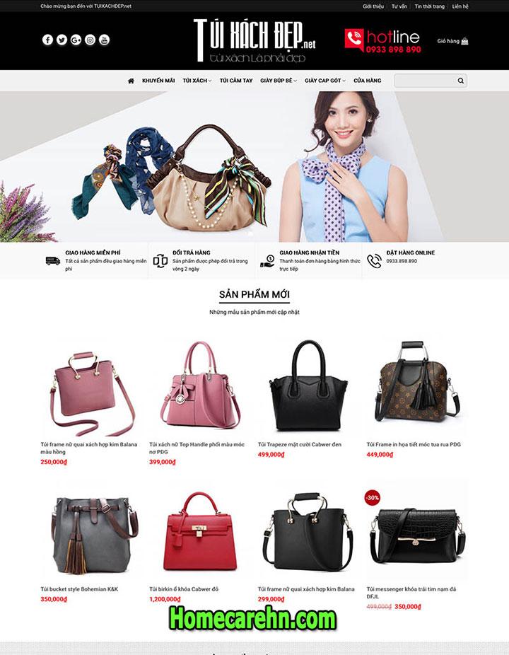 thiết kế website bán túi xách chuyên nghiệp uy tín