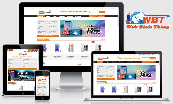 Thiết Kế Website Bán Điện Thoại Di Động Chuẩn Seo chuẩn di động