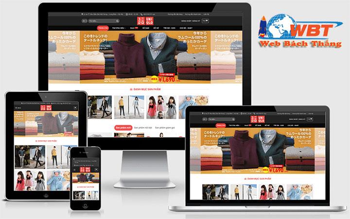 thiết kế website thời trang – may mặc đẹp uy tín