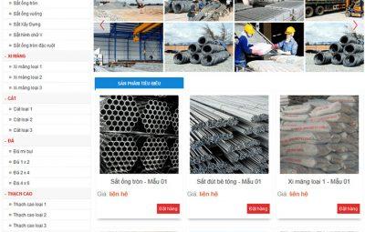 thiết kế website bán vật liệu xây dựng uy tín