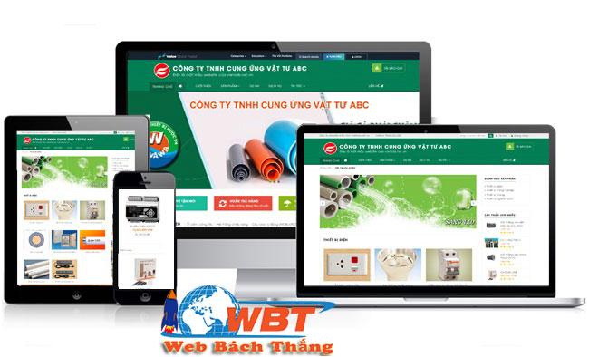 thiết kế website bán vật liệu xây dựng uy tín chuẩn seo