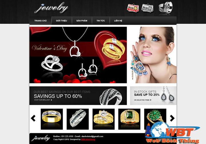 Thiết kếWebsite Bán Đồ Trang Sức chất lượng