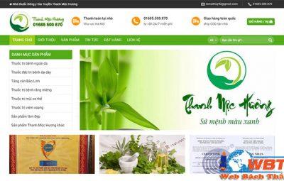 thiết kế website bán thuốc chuyên nghiệp giá rẻ