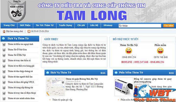 thiết kế website dịch vụ thám tử - bảo an chuyên nghiệp