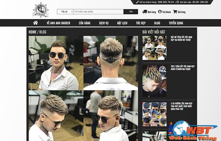 Dịch vụ thiết kế website salon tóc chuyên nghiệp uy tín