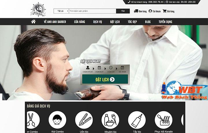 thiết kế website salon tóc chuyên nghiệp uy tín