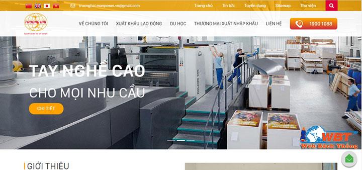 dịch vụ thiết kế website xuất khẩu lao động chuyên nghiệp