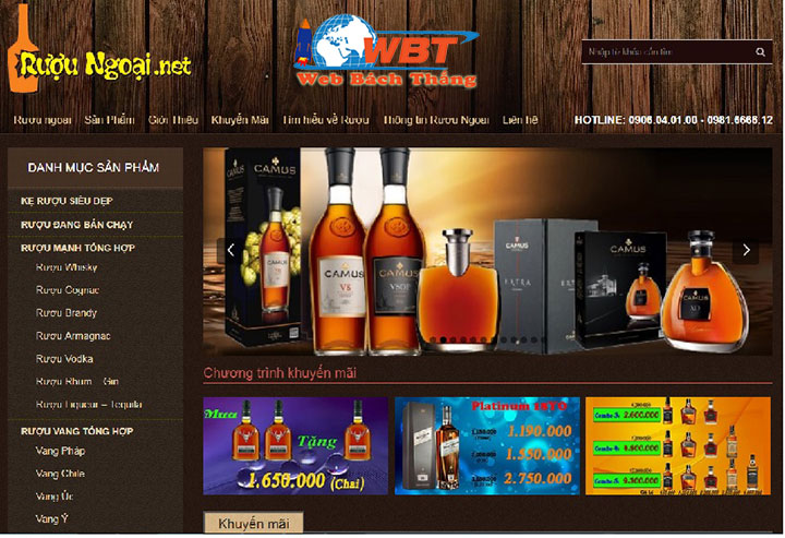 thiết kế website bán rượu uy tín chuẩn seo chuẩn di động đẳng cấp