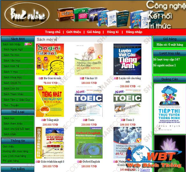 Dịch vụ thiết kế website bán sách Trực tuyến chuẩn seo