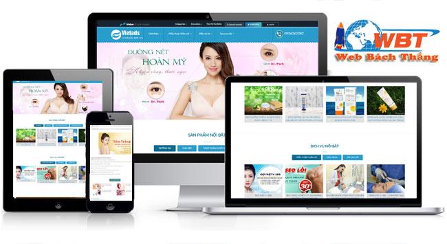 thiết kế website thẩm mỹ viện chuyên nghiệp đẳng cấp