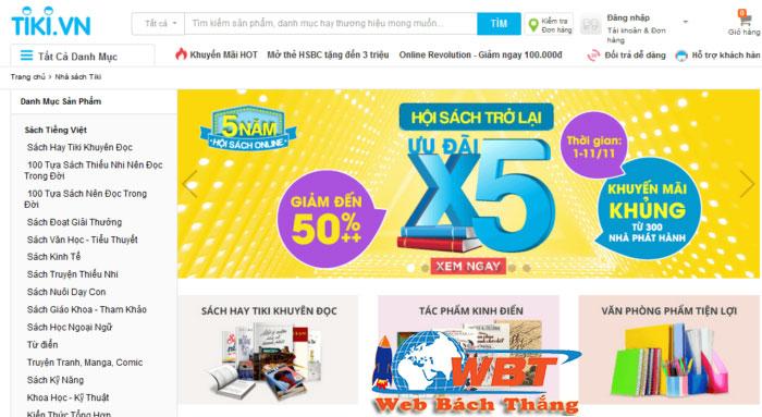 Dịch vụ thiết kế website bán sách Trực tuyến uy tín