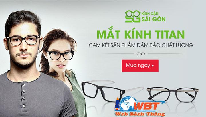 dịch vụ thiết kế website bán mắt kính thời trang chuyên nghiệp uy tín
