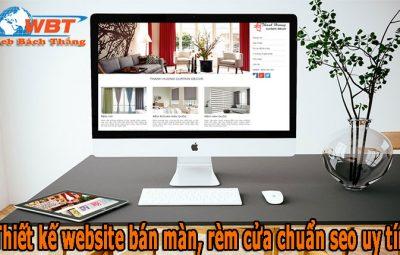 Thiết kế website bán màn, rèm cửa chuẩn seo uy tín