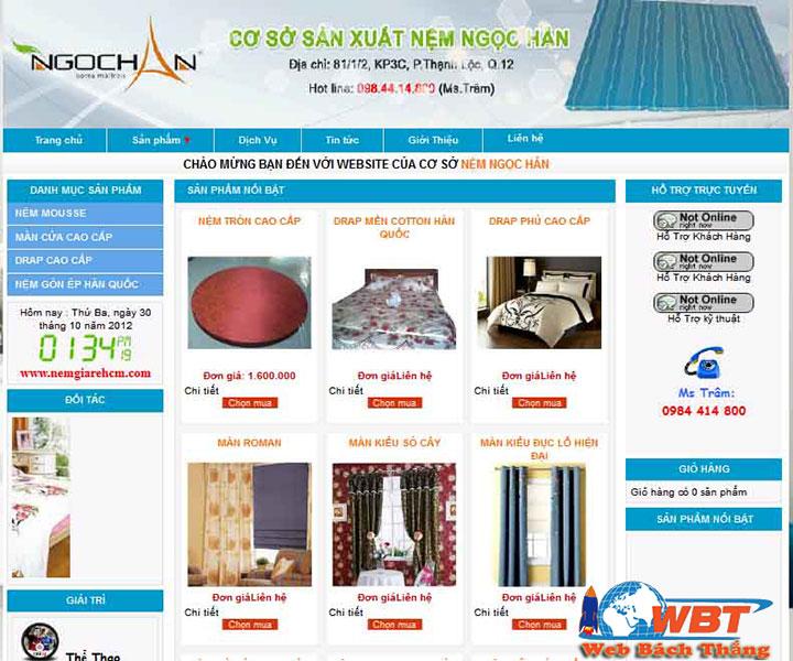 Thiết kế website bán màn, rèm cửa chuẩn seo chuyên nghiệp
