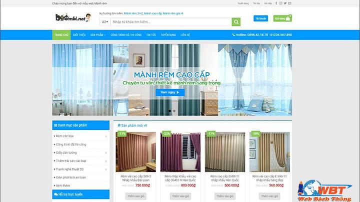 Thiết kế website bán màn, rèm cửa chuẩn seo sang trọng