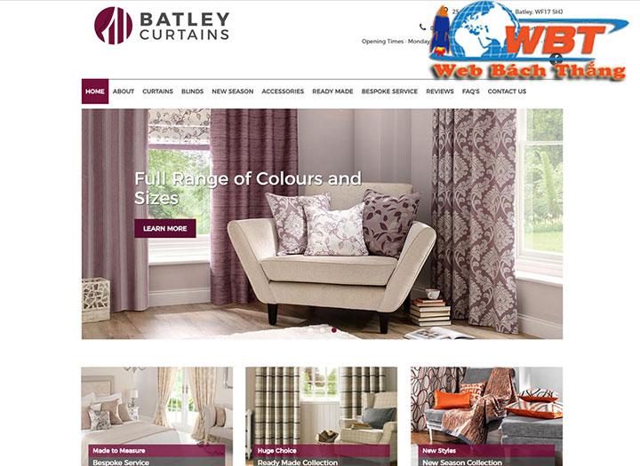 Thiết kế website bán màn, rèm cửa chuẩn seo giá rẻ