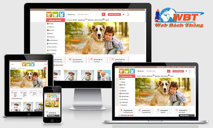 Thiết kế website bán thú cưng chuẩn seo chuẩn di động