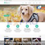 Thiết Kế website bán thú cưng uy tín chuẩn seo giá rẻ