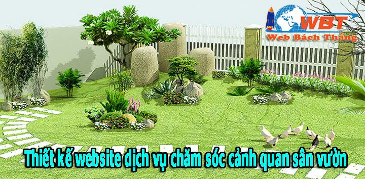 thiết kế website dịch vụ chăm sóc cảnh quan sân vườn