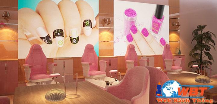 Dịch vụ thiết kế website tiệm nails uy tín chuẩn seo