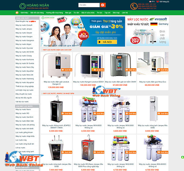 thiết kế website bán máy lọc nước chất lượng chuẩn seo