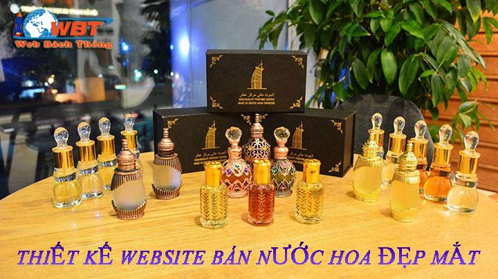 thiết kế website bán nước hoa chuyên nghiệp chuyển seo