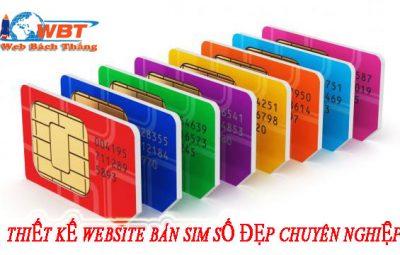 thiết kế website bán sim điện thoại uy tín