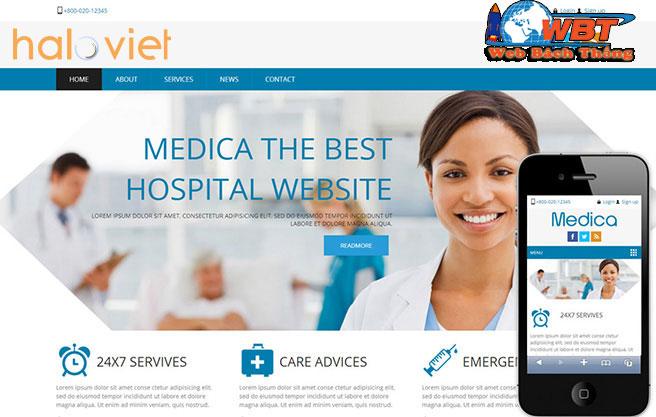 Dịch vụ thiết kế website bệnh viện chuyên nghiệp uy tín