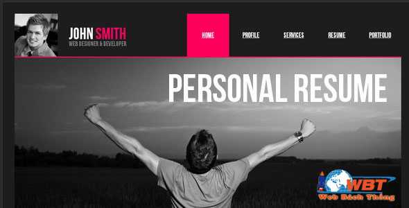 thiết kế website cá nhân chuyên nghiệp uy tín