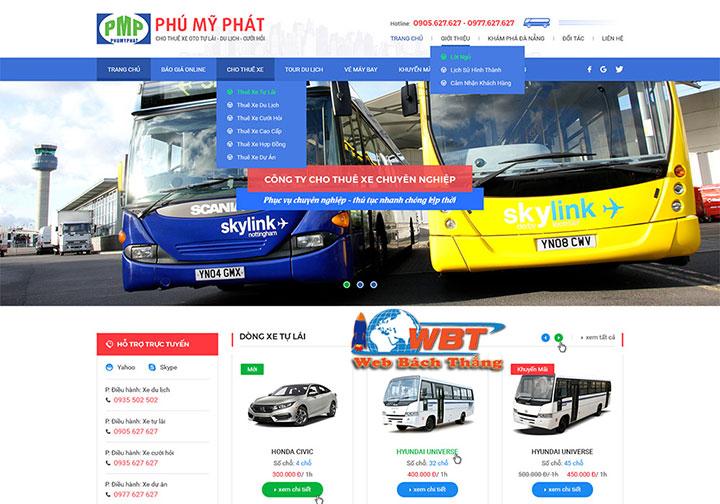 đơn vị thiết kế website dịch vụ cho thuê xe uy tín
