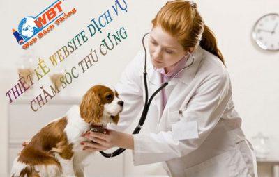 thiết kế website dịch vụ chăm sóc thú cưng