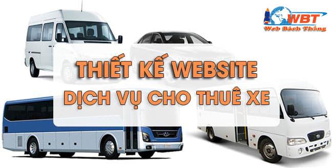thiết kế website dịch vụ cho thuê xe chuyên nghiệp