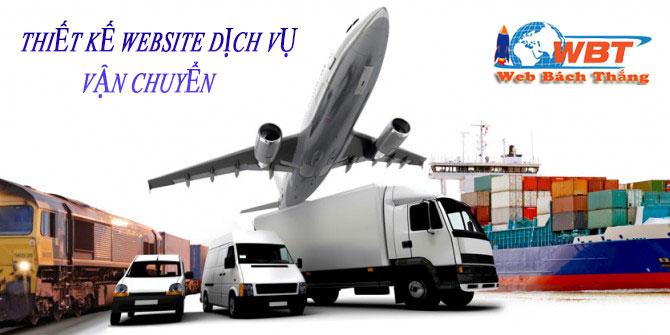 thiết kế website dịch vụ vận chuyển