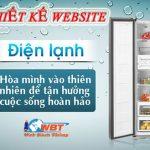 Dịch vụ thiết kế website điện lạnh – điện tử chuyên nghiệp