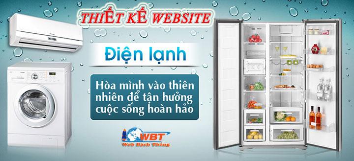 thiết kế website điện lạnh - điện tử chuyên nghiệp
